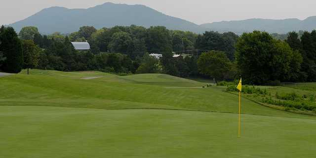 A view of a green at Three Ridges Golf Course.