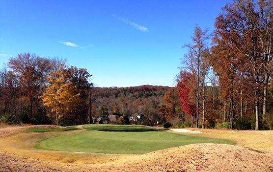 A fall view of a hole at The Club at Gettysvue.