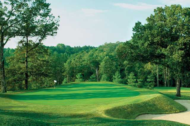 A sunny day view of a green at The Club at Gettysvue.