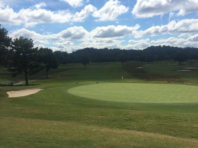 A view of a green at Holston Hills Country Club