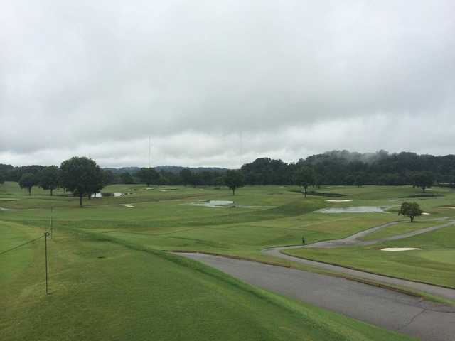 A cloudy view from Holston Hills Country Club