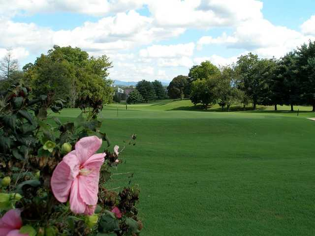 A view of the 18th hole at Green Meadow Country Club
