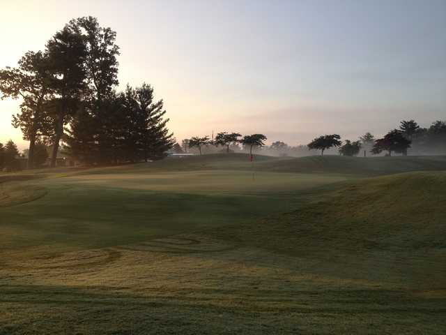 A view of a green at Green Meadow Country Club.