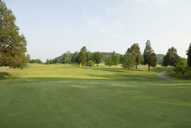 A view of a hole at Oak Ridge Country Club