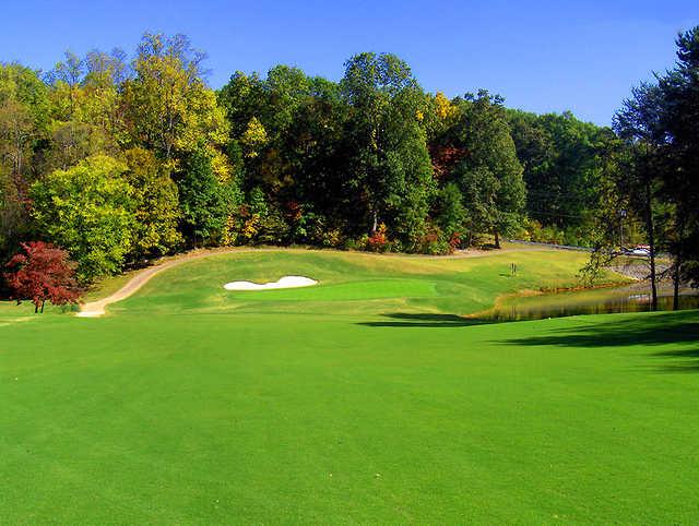 A view of the 10th green at Toqua Golf Club.