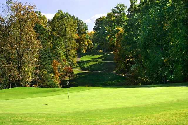 A view of a hole at Toqua Golf Club.