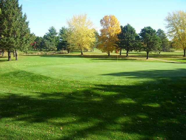 A view of the 14th green at Faribault Golf & Country Club