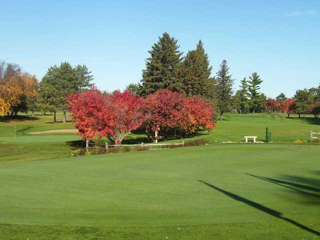 A view of green #9 and fairway #10 at Faribault Golf & Country Club