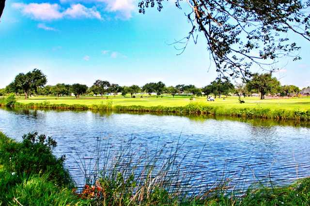 A view over the water from Palo Duro Creek Golfing Club