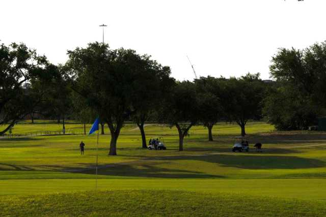 A view of a green at Palo Duro Creek Golfing Club