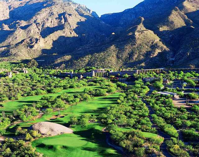 The first hole on the Canyon course at Ventana Canyon
