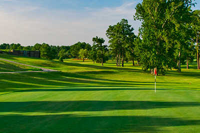 A view of a green at Cross Creek Golf Course