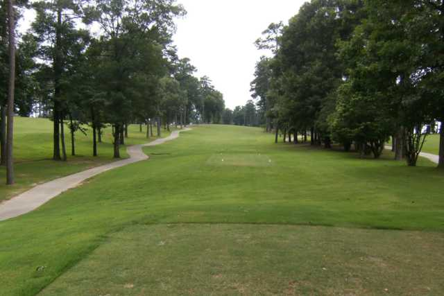 A view from a tee at Glenwood Country Club