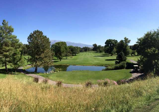 A sunny day view from Schneiter's Riverside Golf Course