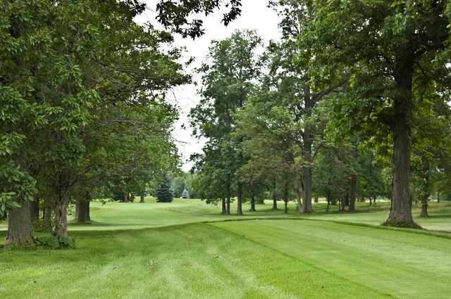 A view from a tee at Hawthorne Hills Golf Course