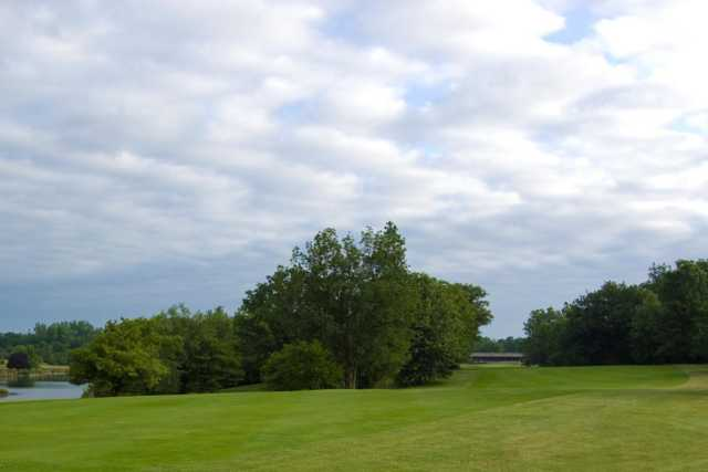 A view of a fairway at Hawthorne Hills Golf Course