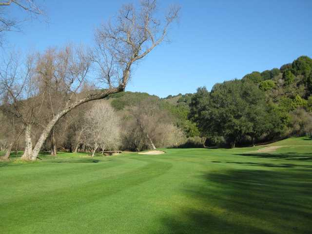 A view from a fairway at Redwood Canyon Golf Course