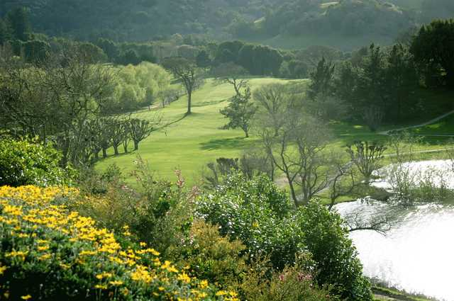 A sunny day view from Indian Valley Golf Club