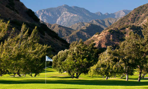 A view of the 11th hole at San Dimas Canyon Golf Course