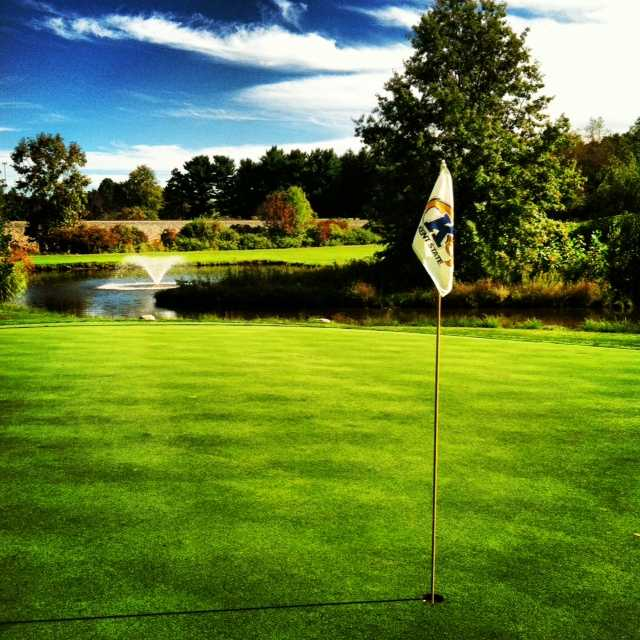 View of the 17th hole at Kent State University Golf Club