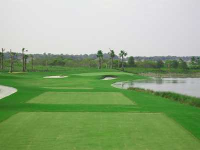 A view from a tee at River Strand Golf and Country Club.