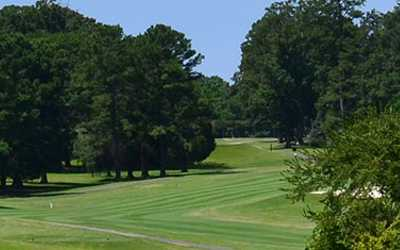 A view of a fairway at Meadowbrook Country Club