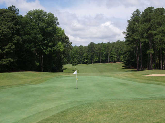 A view of a green at Piankatank River Golf Club