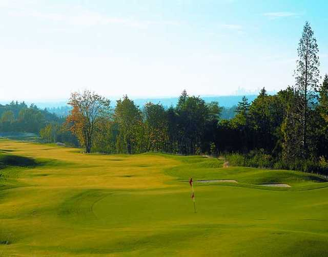 A view of the 5th hole at Coal Creek Course from the Golf Club At Newcastle