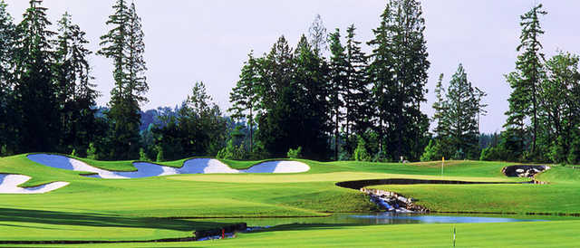 A view of hole #17 at Washington National Golf Club.