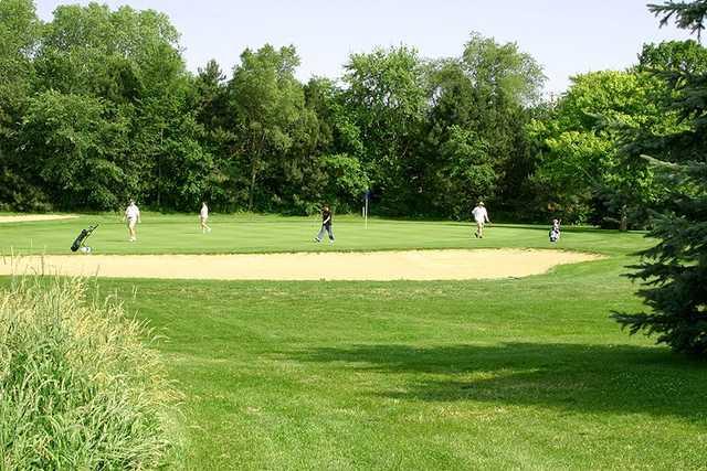 A view of a green at Monona Golf Course