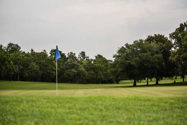 A view of a green at Oak Hills Golf Club
