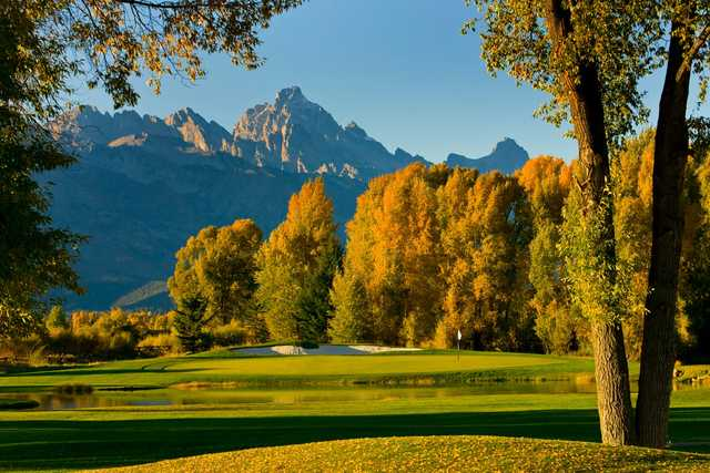 A view of green #13 at Jackson Hole Golf & Tennis Club (Tuck Fauntleroy)