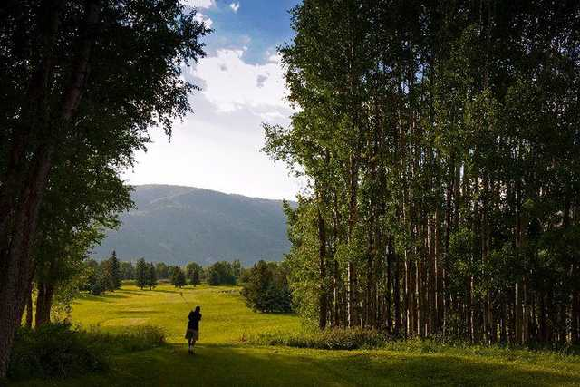 A view from a tee at Aspen Golf Course