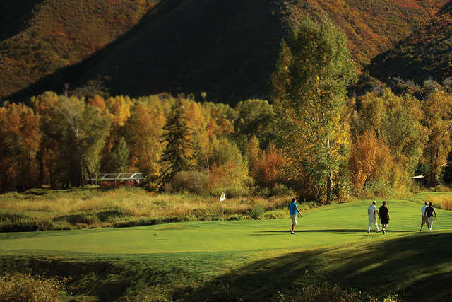 A fall view of a hole at Roaring Fork Club