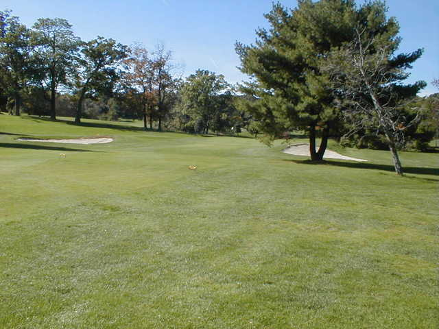 View of the 1st hole at Newton Commonwealth Golf Course