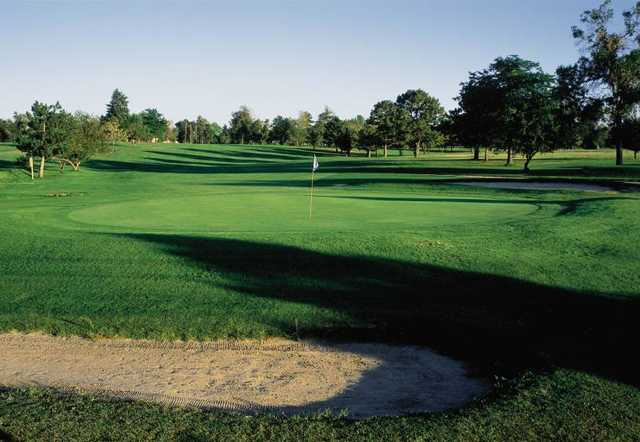 A view of a green at Fitzsimmons Golf Course