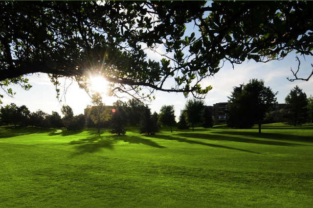 A sunny day view from Heather Gardens Golf Course