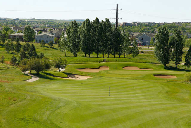 A view from fairway #12 at University of Denver Golf Club at Highlands Ranch