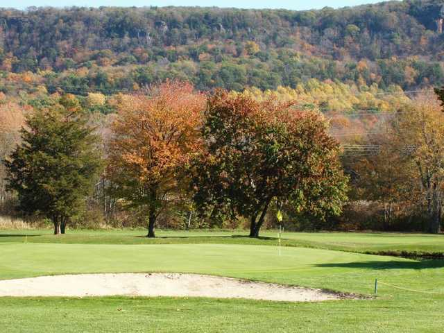 A fall view of a green at Southington Country Club