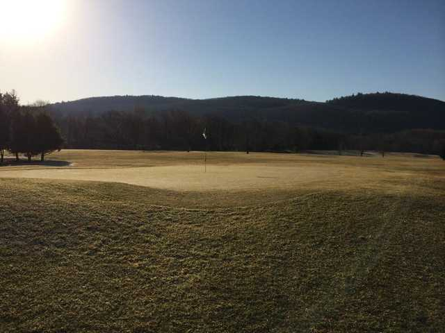 A view of the 9th hole at Sleeping Giant Golf Course