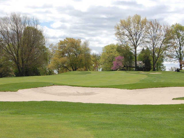 A view of hole #7 from Green Nine at Tumble Brook Country Club