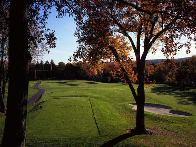 A view from the 2nd hole at Red Nine from Tumble Brook Country Club