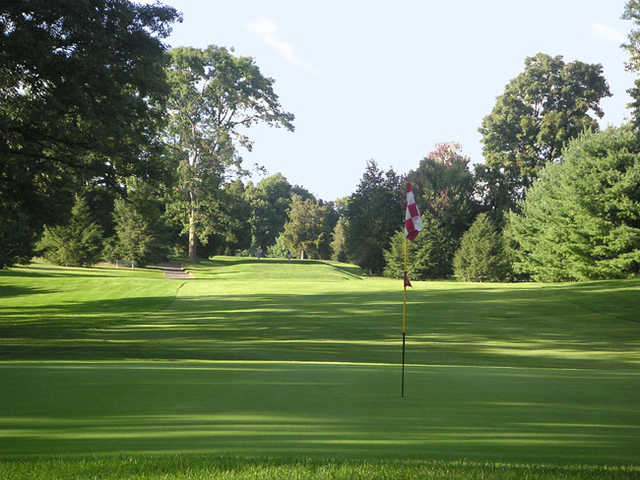 A view of hole #2 at Red from Stanley Golf Course