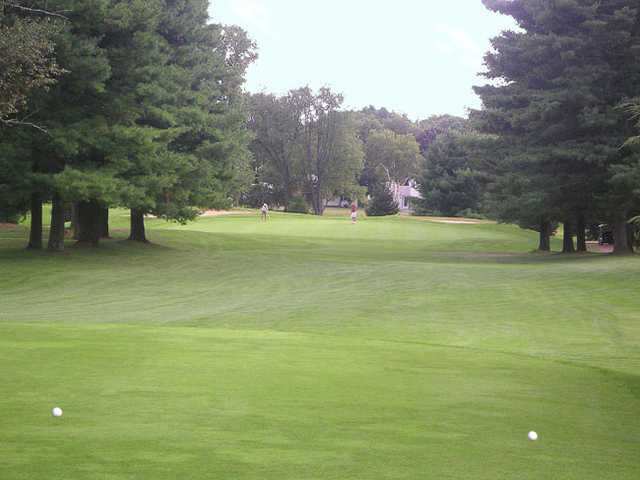 A view from tee #5 at Blue at Stanley Golf Course
