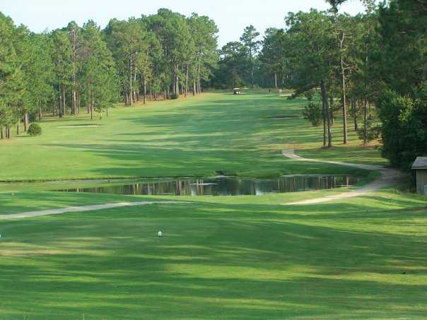 A view from a tee at Pineknoll Country Club
