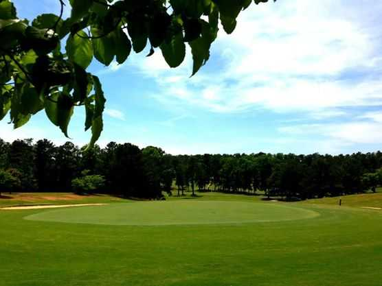 A view of a green at Pebblebrook Golf Club