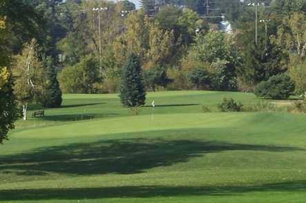 A view of a green at American Legion Memorial Golf Course