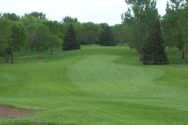 A view of a fairway at Okoboji View Golf Course