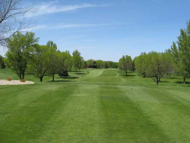 A view from a tee at Okoboji View Golf Course