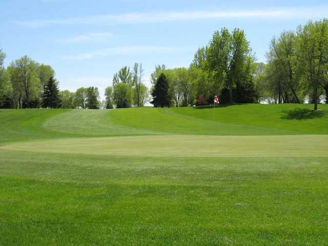 A view of a green at Okoboji View Golf Course